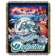 Miami Dolphins Tapestry Throw by Northwest