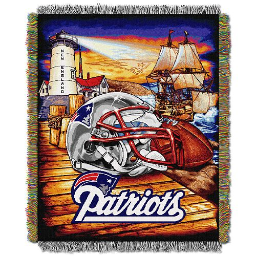 New England Patriots Tapestry Throw by Northwest