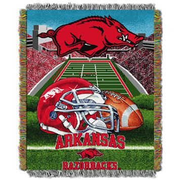 Arkansas Razorbacks Tapestry Throw by Northwest