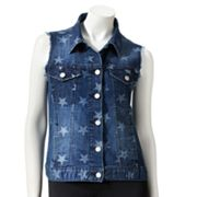 Rock and Republic Star Frayed Denim Vest