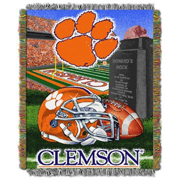 Clemson Tigers Tapestry Throw by Northwest
