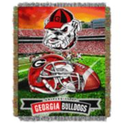 Georgia Bulldogs Tapestry Throw by Northwest