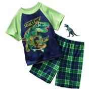 Up-Late T-Rex Pajama Set - Boys 4-8