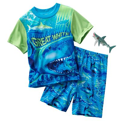 Up-Late Shark Pajama Set - Boys 4-10