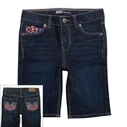 Levi's Katy Embroidered Denim Bermuda Shorts - Toddler