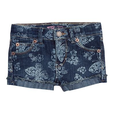 Levi's Felicity Floral and Butterfly Denim Shorts - Toddler