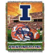 Illinois Fighting Illini Tapestry Throw by Northwest