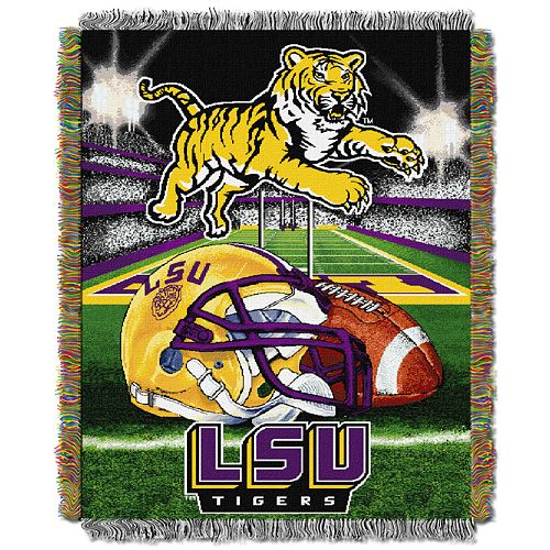 LSU Tigers Tapestry Throw by Northwest