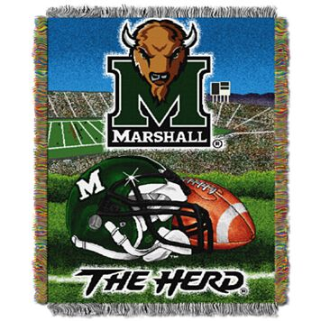 Marshall Thundering Herd Tapestry Throw by Northwest