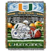 Miami Hurricanes Tapestry Throw by Northwest