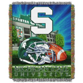 Michigan State Spartans Tapestry Throw by Northwest