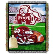 Mississippi State Bulldogs Tapestry Throw by Northwest