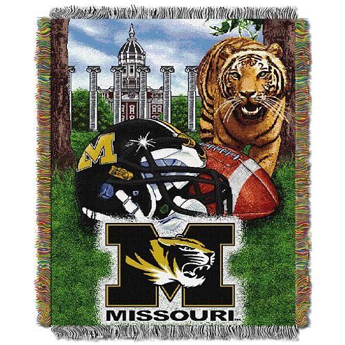 Missouri Tigers Tapestry Throw by Northwest