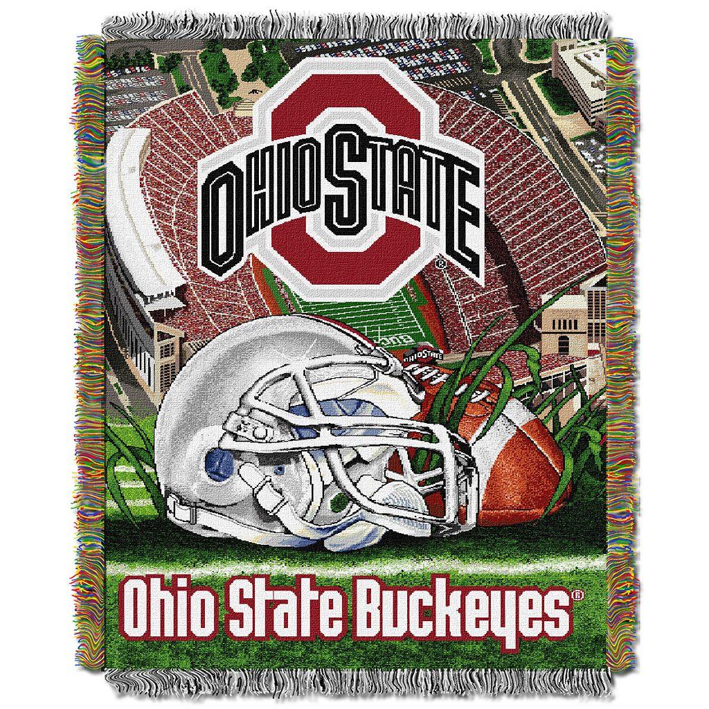 Ohio State Buckeyes Tapestry Throw by Northwest
