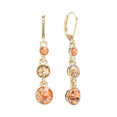 Napier Simulated Crystal Drop Earrings