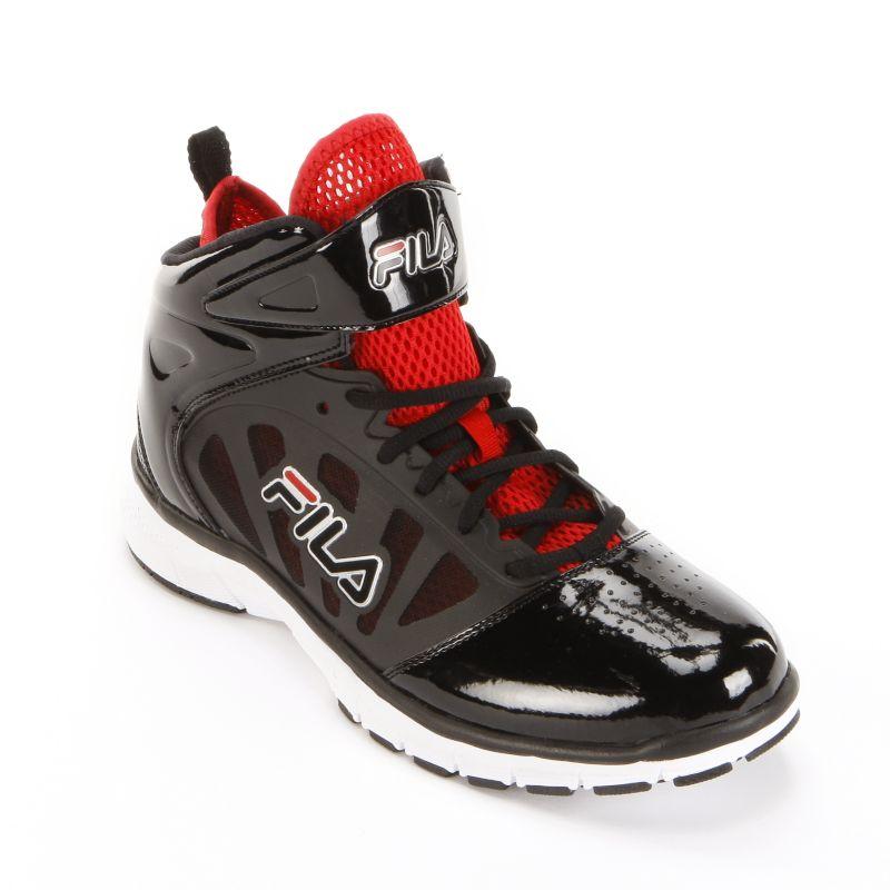 fila black all memory basketball shoes