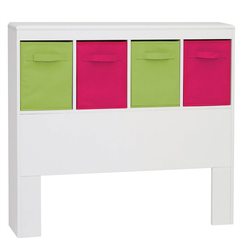 Zany Kids 4-Bin Storage Headboard