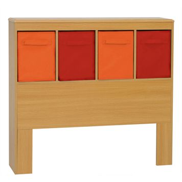Crawford Kids 4-Bin Storage Headboard