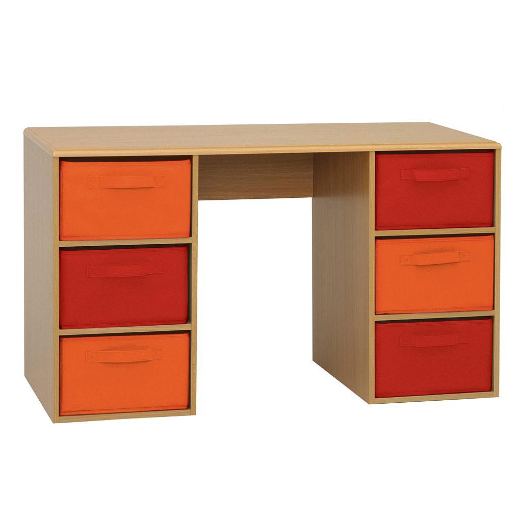 Crawford 6-Bin Student Desk