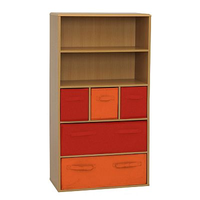 Crawford Kids 5-Bin Storage Bookcase