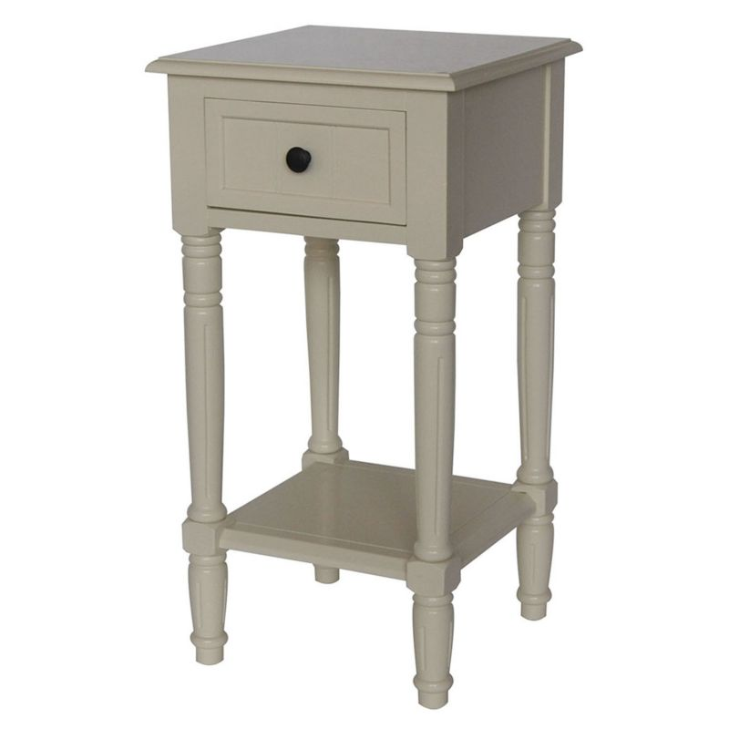 Simplicity Drawer End Table, White