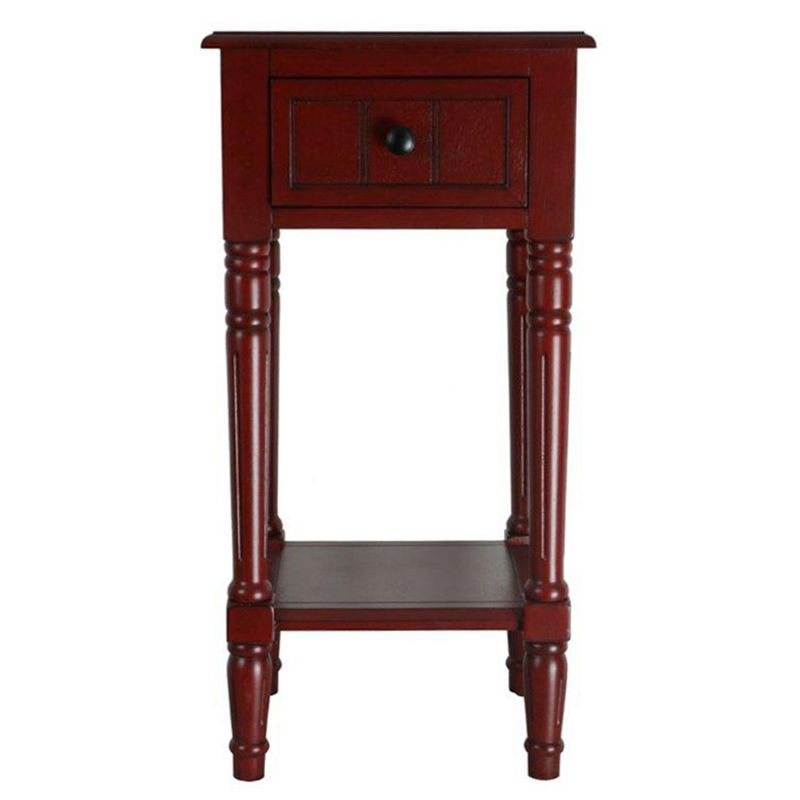 Simplicity Drawer End Table, Red