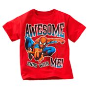 Spider-Man Awesome Ends With Me Tee - Boys 4-7