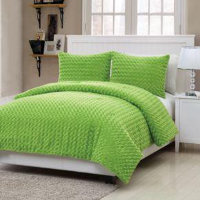 VCNY Rose Faux Fur 2-pc. Comforter Set - Twin