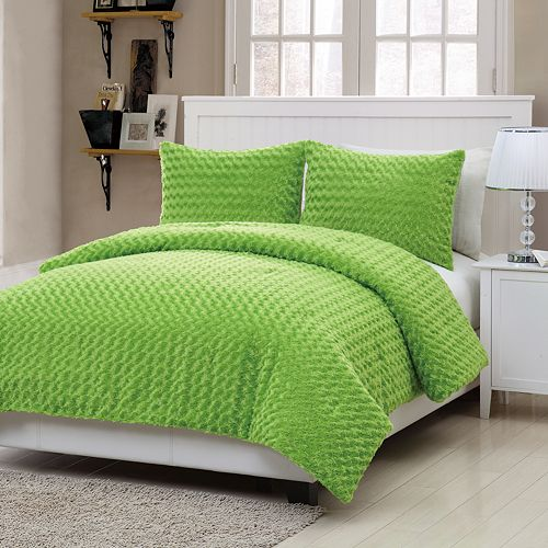 VCNY Rose Faux Fur 3-pc. Comforter Set - Full
