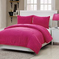 VCNY Rose Fur 3-pc. Comforter Set - Full