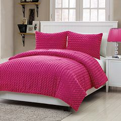 VCNY Rose Faux Fur 3-pc. Comforter Set - Full