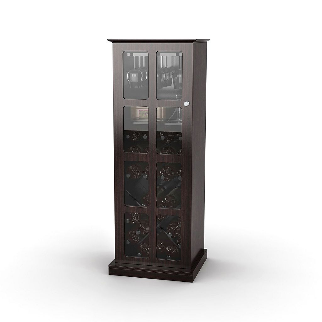 Atlantic Windowpane 24-Bottle Wine Cabinet
