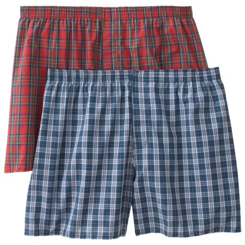 Big & Tall Hanes 2-pk. Tartan-Plaid Boxers