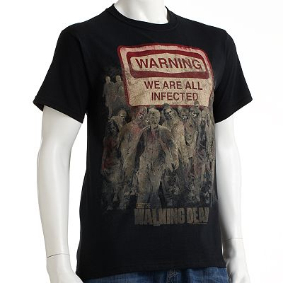 The Walking Dead Warning Sign Tee - Men