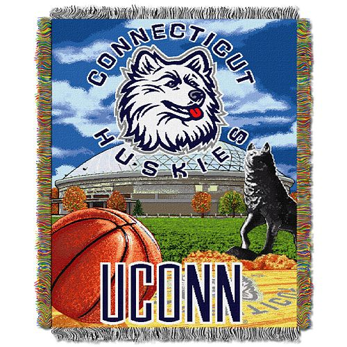 Connecticut Huskies Tapestry Throw by Northwest