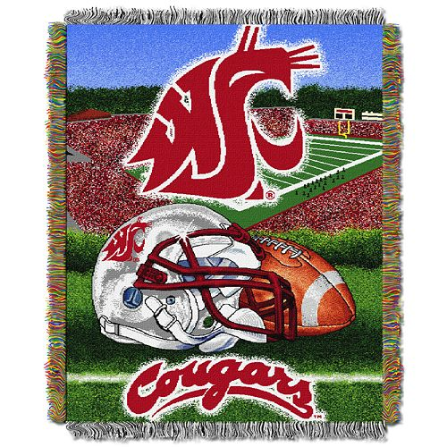 Washington State Cougars Tapestry Throw by Northwest