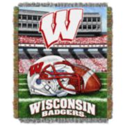 Wisconsin Badgers Tapestry Throw by Northwest