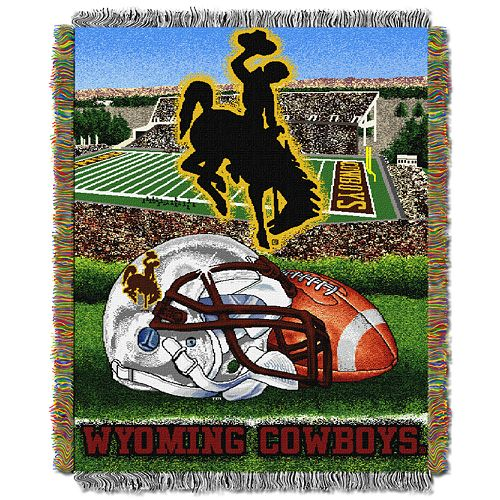 Wyoming Cowboys Tapestry Throw by Northwest