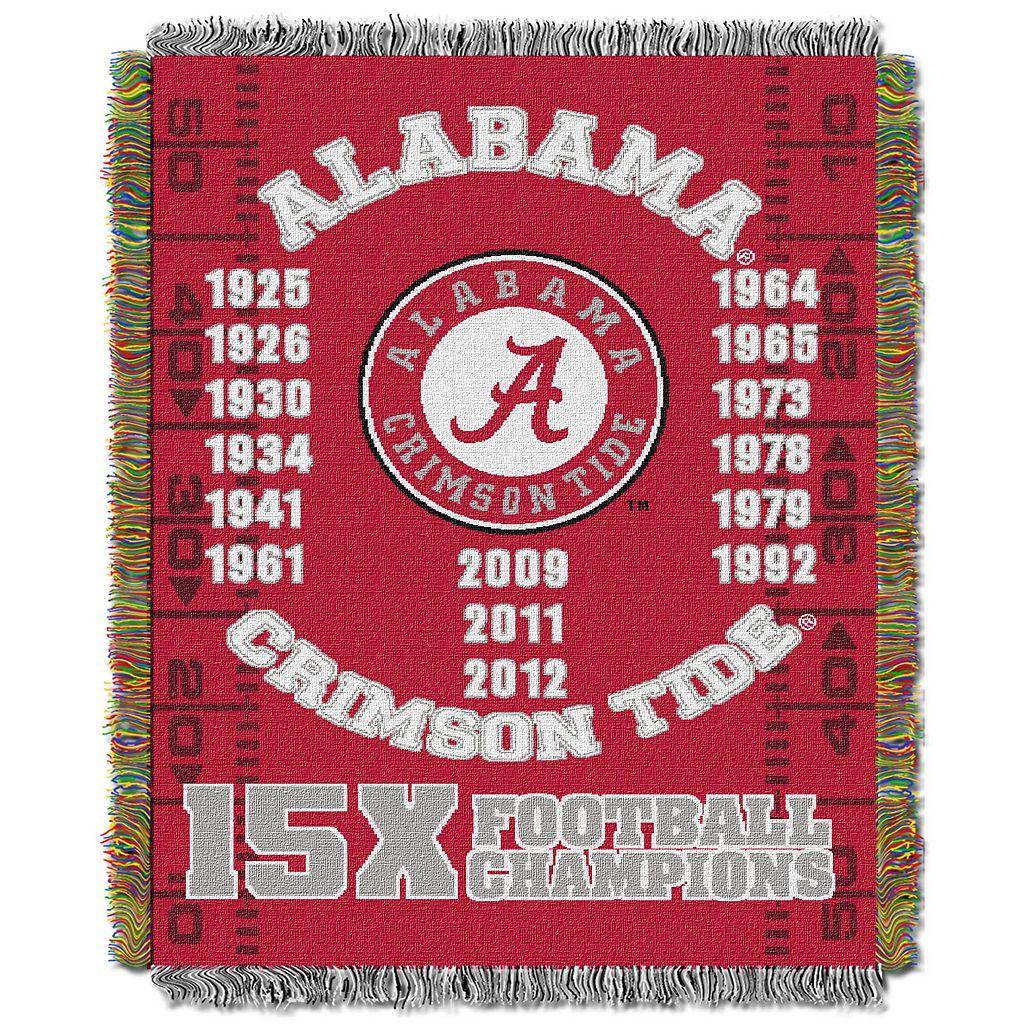 Alabama Crimson Tide Commemorative Throw by Northwest