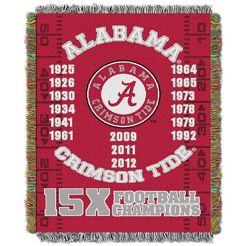 Alabama Crimson Tide Commemorative Throw by Northwest