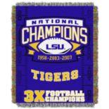 LSU Tigers Commemorative Throw by Northwest