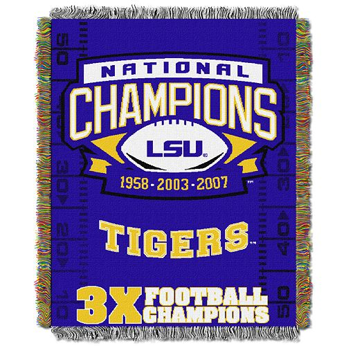 LSU Tigers Commemorative Throw by Northwest