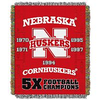Nebraska Cornhuskers Commemorative Throw by Northwest