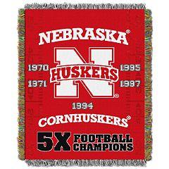 Nebraska Cornhuskers Commemorative Throw by Northwest