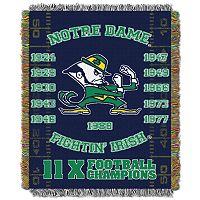 Notre Dame Fighting Irish Commemorative Throw by Northwest