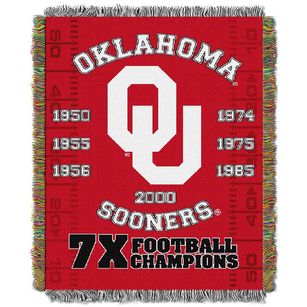Oklahoma Sooners Commemorative Throw by Northwest