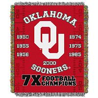 Oklahoma Sooners Commemorative Throw by Northwest