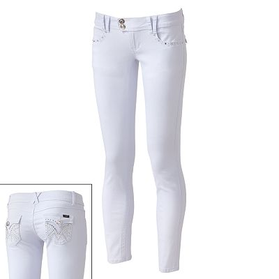 Angels Rhinestone Skinny Jeans - Juniors
