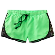 SO Love and Peace Mesh Neon Performance Shorts - Girls 7-16