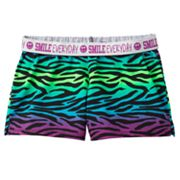 SO Zebra Fold-Over Knit Shorts - Girls 7-16